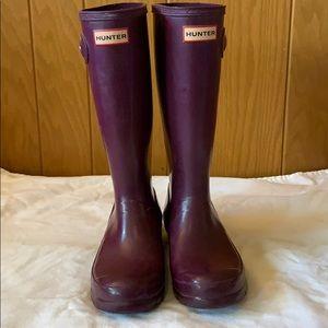 Hunter Purple Tall Kids Boots